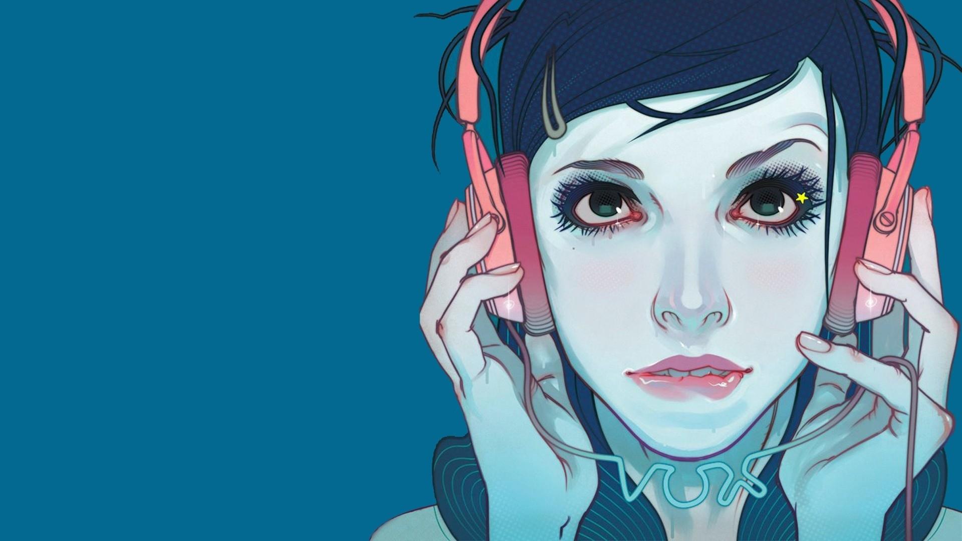 Headphone Girl Art
