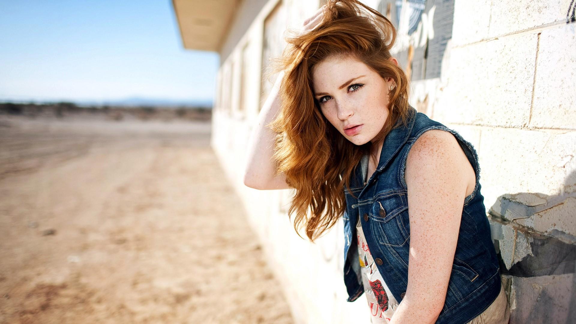 Girl Look Redhead Model