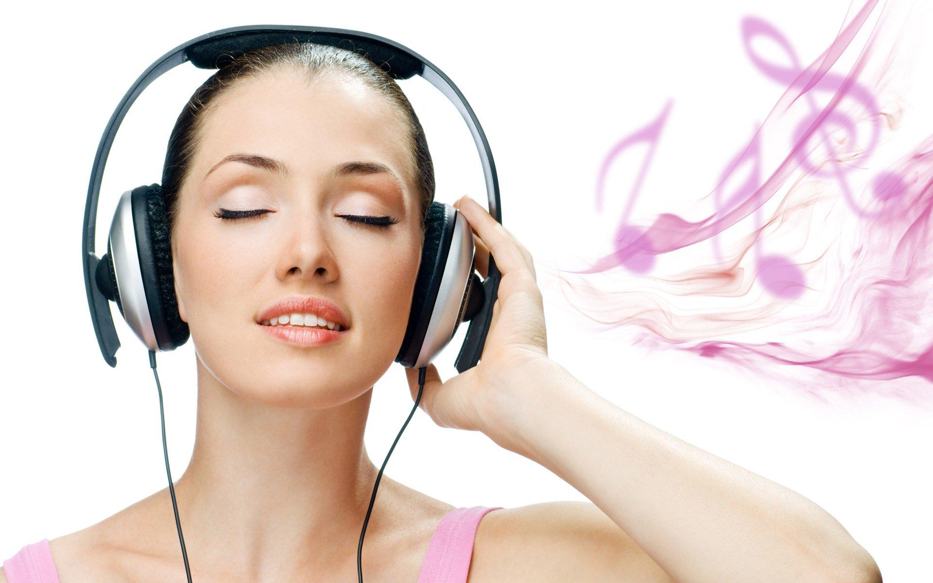 Girl music listening