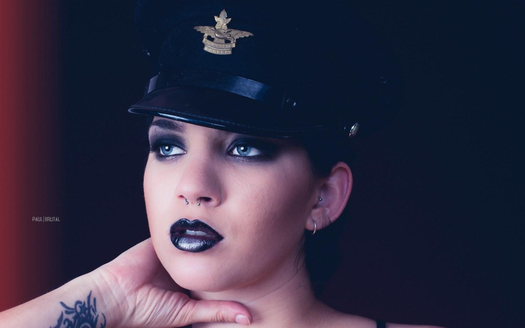 Girl Piercing Style Portrait Fashion