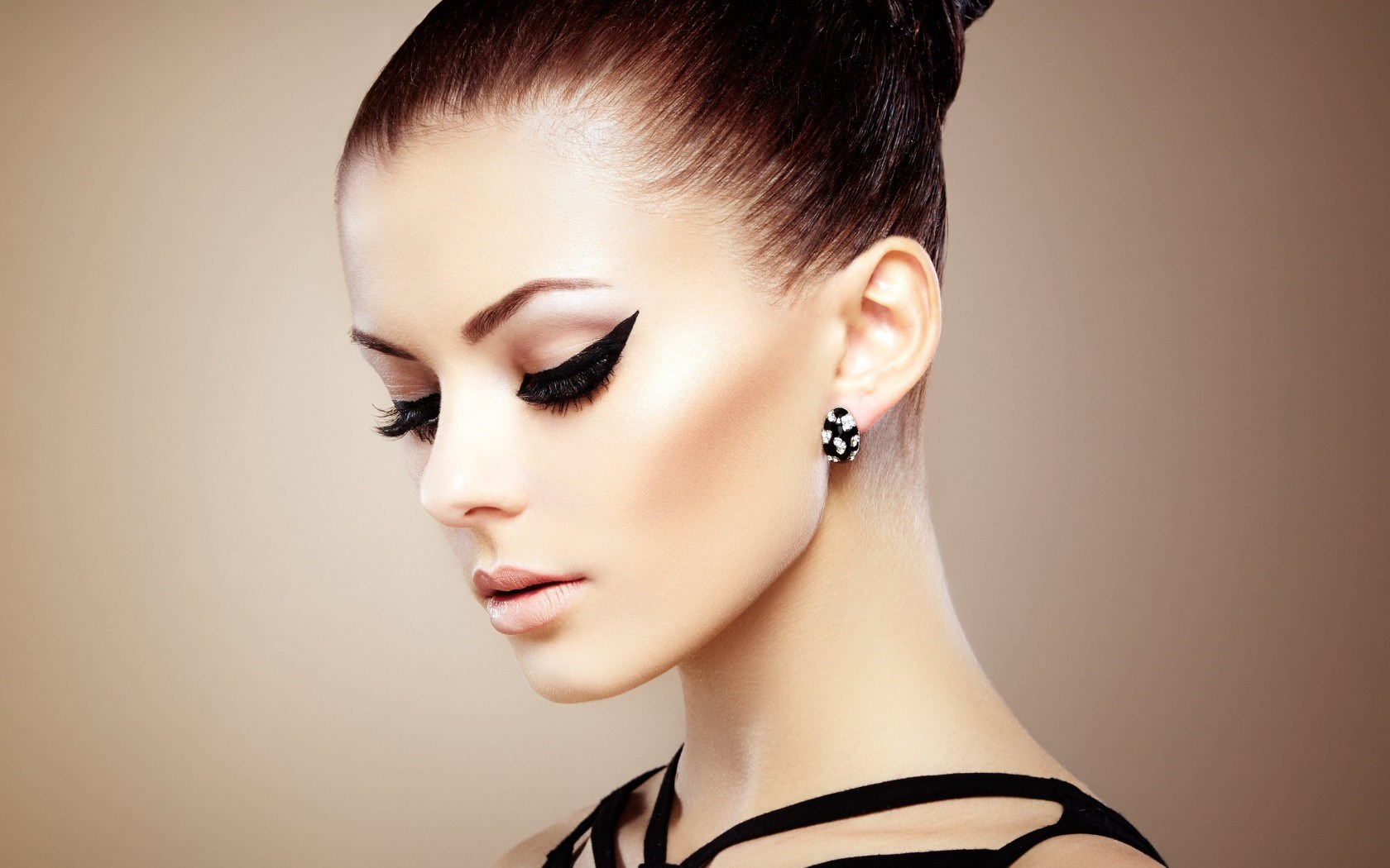 Girl Profile Makeup Fashion Model