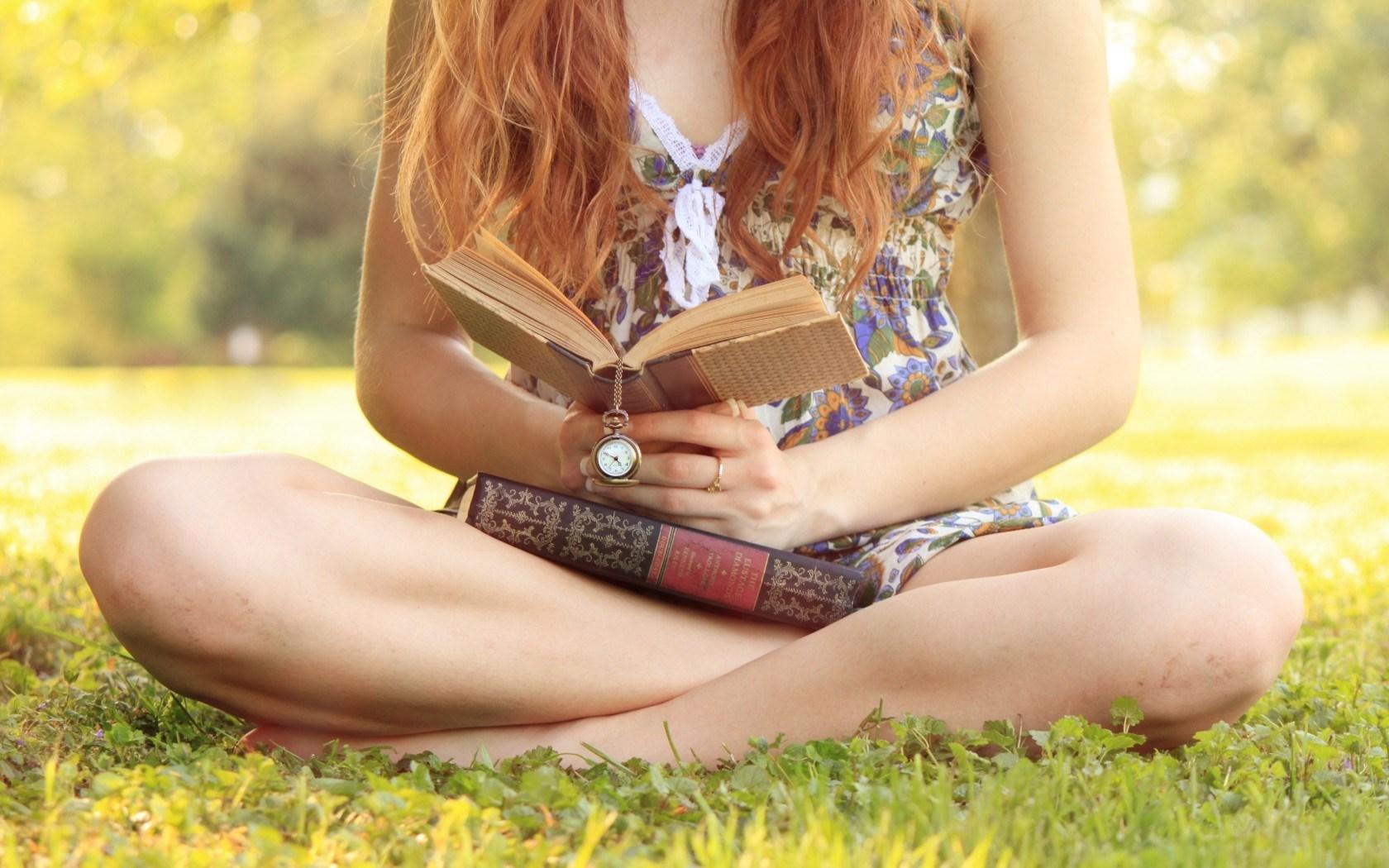 Girl Redhead Books Watch