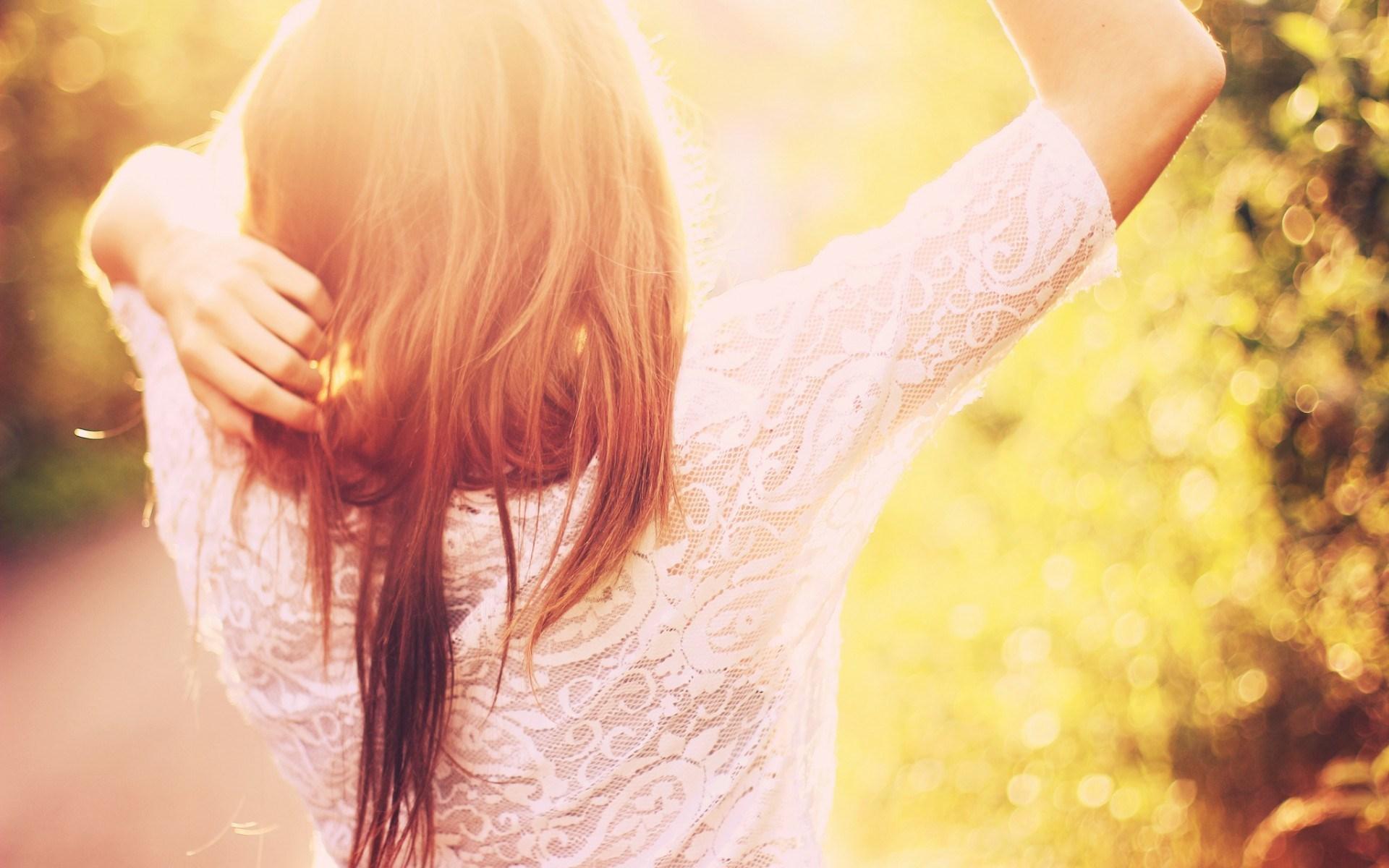 Girl Sun Bokeh