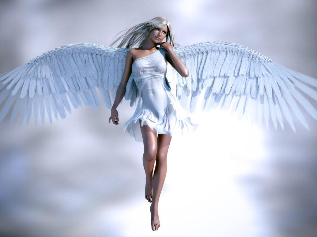 Wallpaper Tags: wings white fantasy girl angel sky