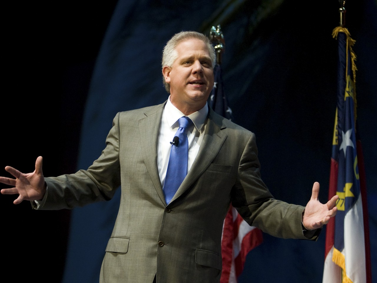 EnlargeFox News host Glenn Beck speaks during the National Rifle Association's 139th annual meeting in Charlotte, North Carolina on May 15, 2010.