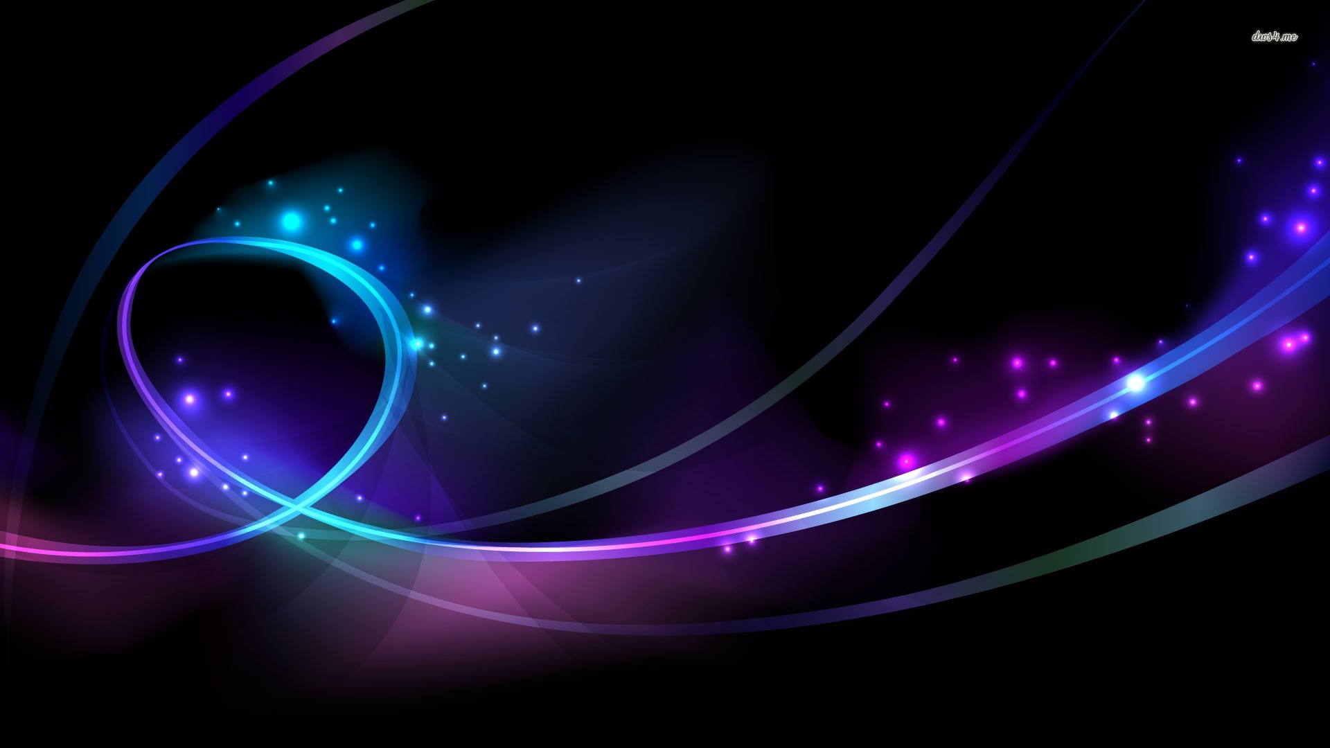... Glowing Circles and Curves wallpaper 1920x1080 ...