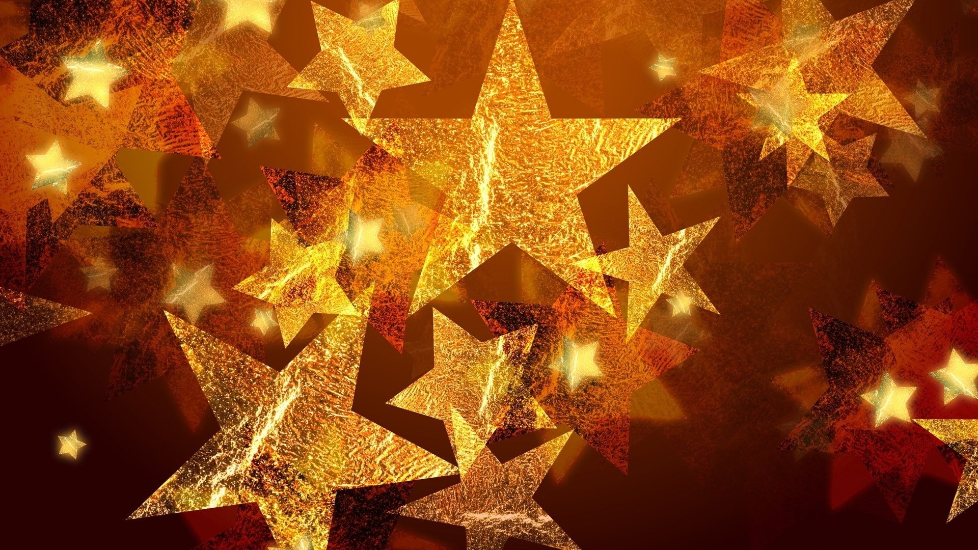 Gold Stars Background