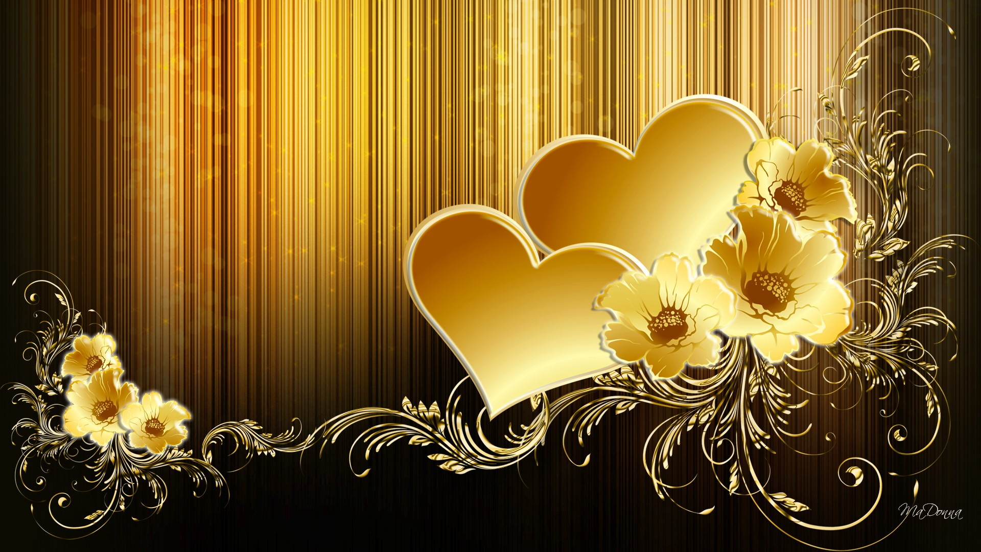 Hd Hearts Of Gold Wallpaper Download Free Xpx