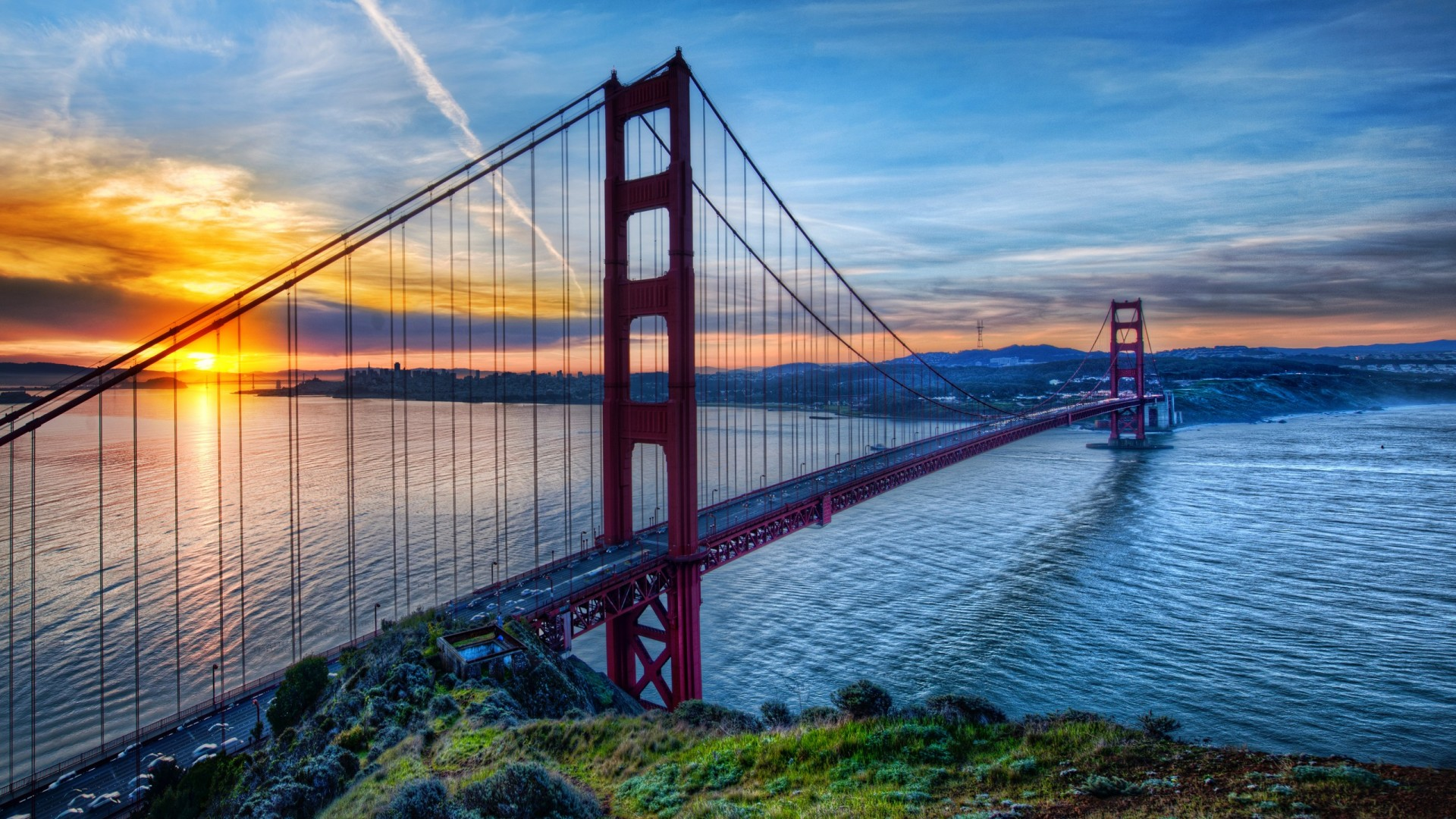 ... HDR Golden Gate Wallpaper
