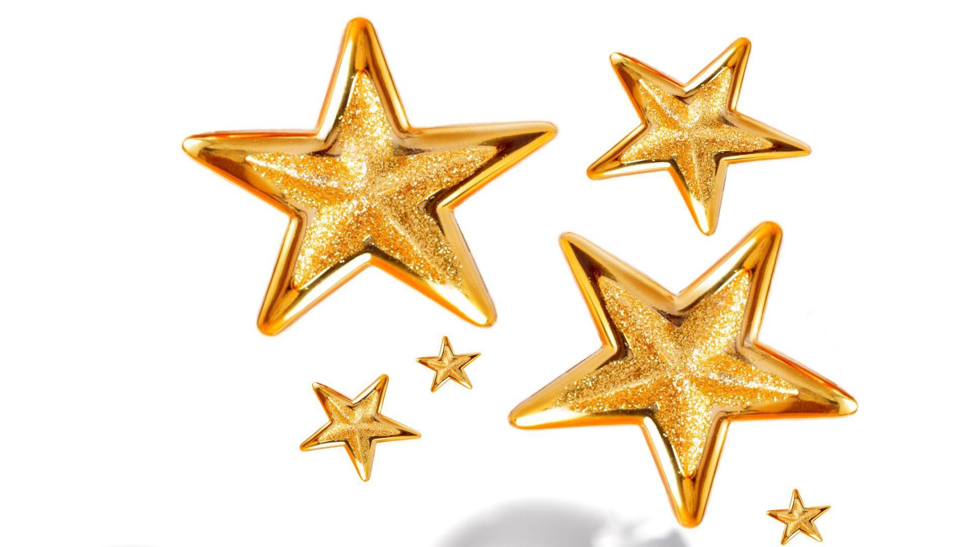 Golden stars wallpaper