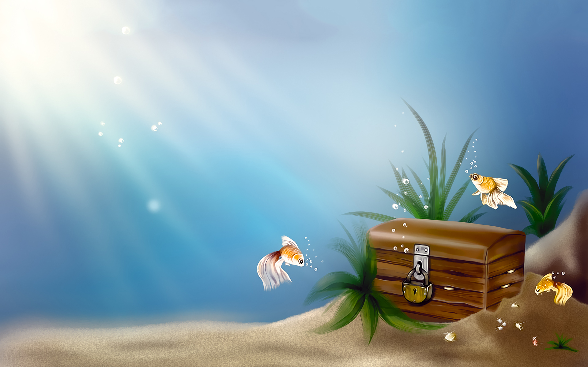 Goldfish treasure chest