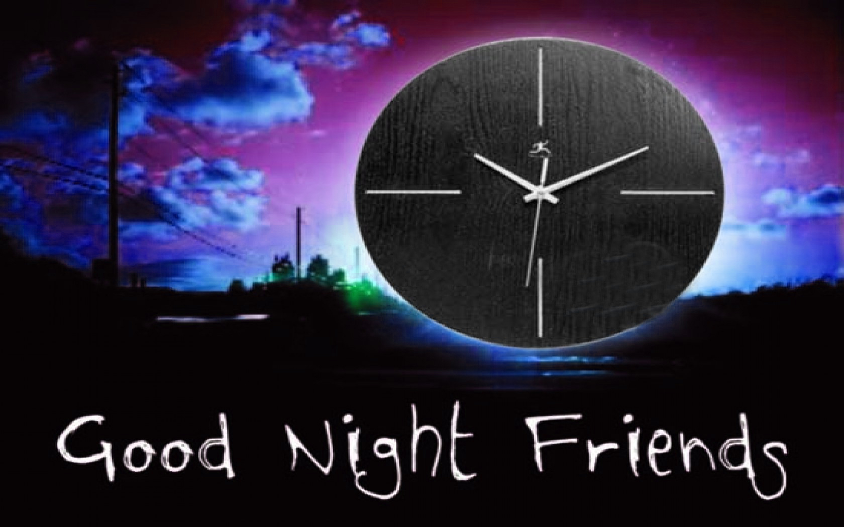 Good Night Clock Widescreen Wallpapers