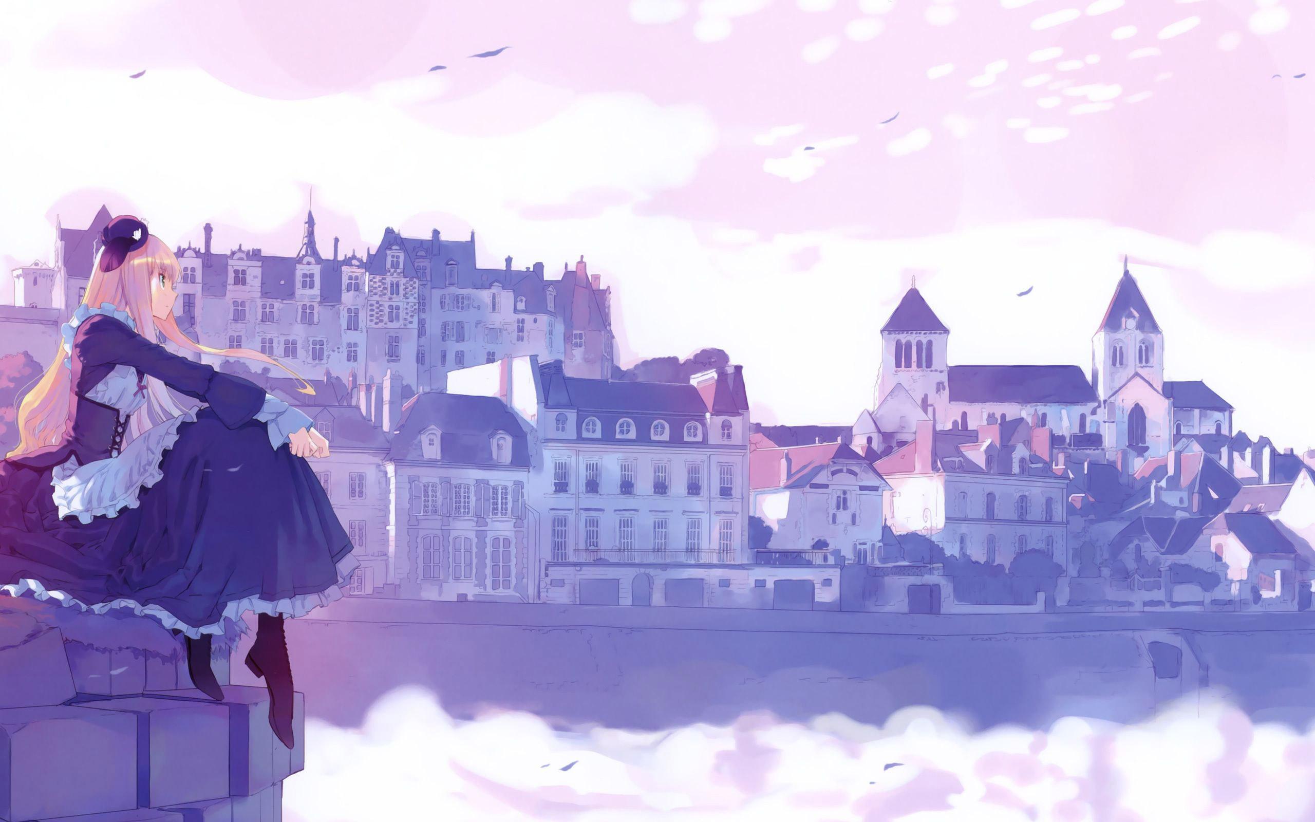 Gorgeous Anime City Wallpaper