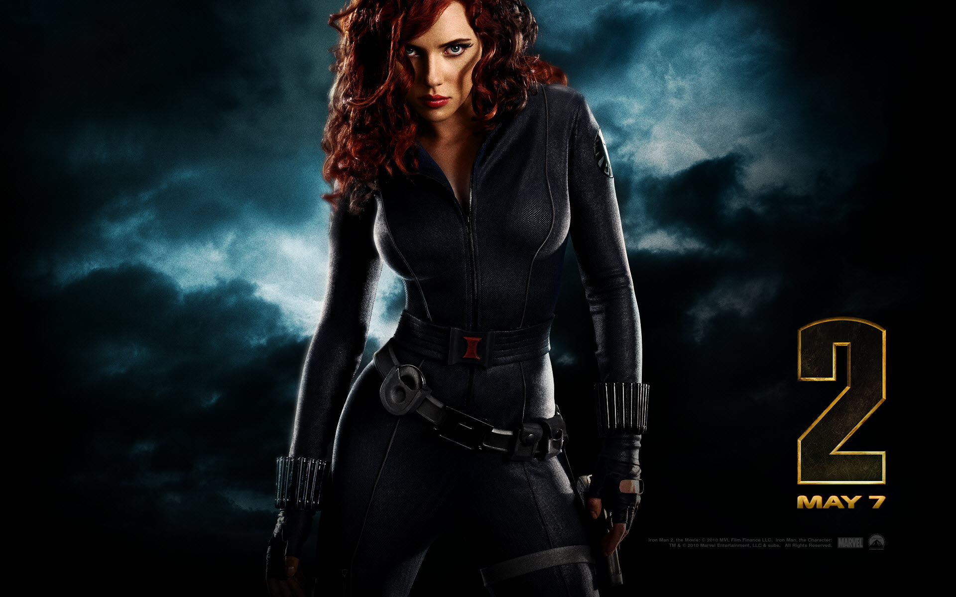 Gorgeous Black Widow Wallpaper