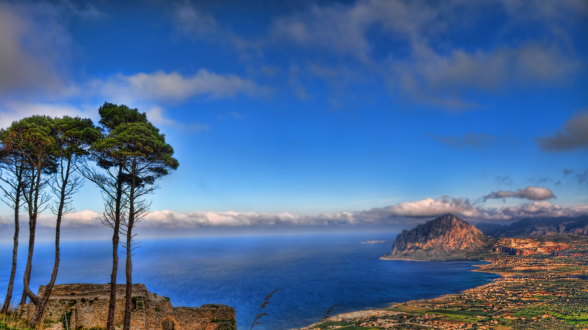 Gorgeous Coastal View Hdr Hd Desktop Background HD wallpapers