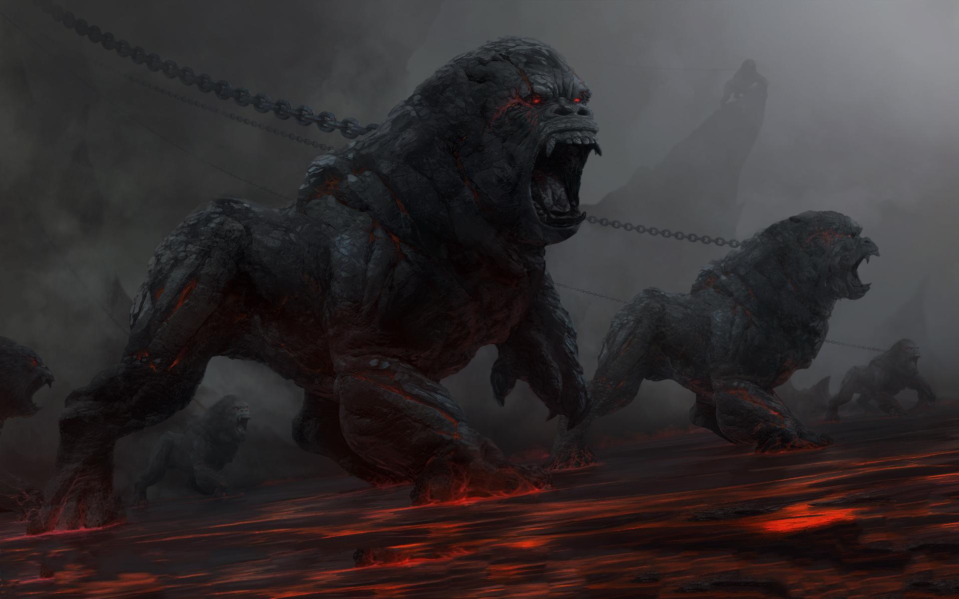 Gorilla lion demons