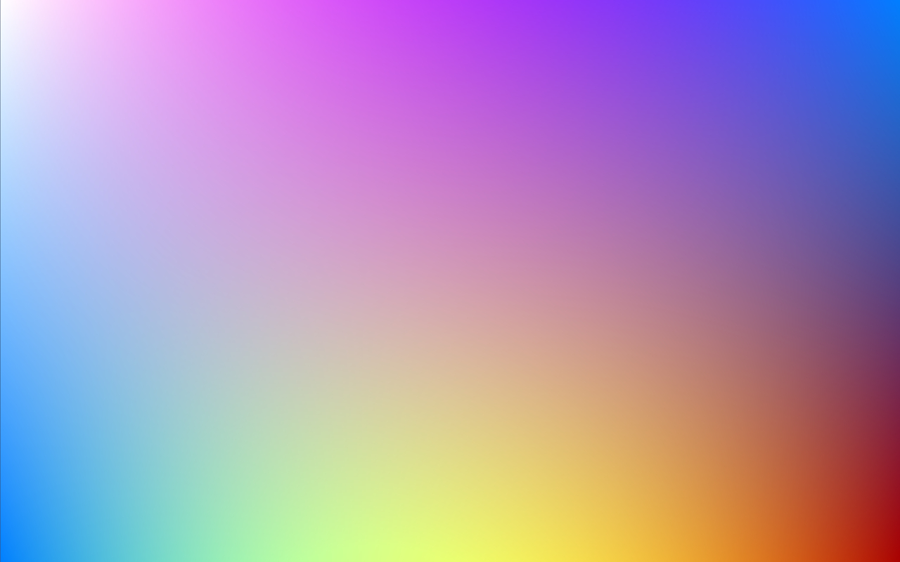 Ahh, unlimited resolution beautiful color gradients, we love you.