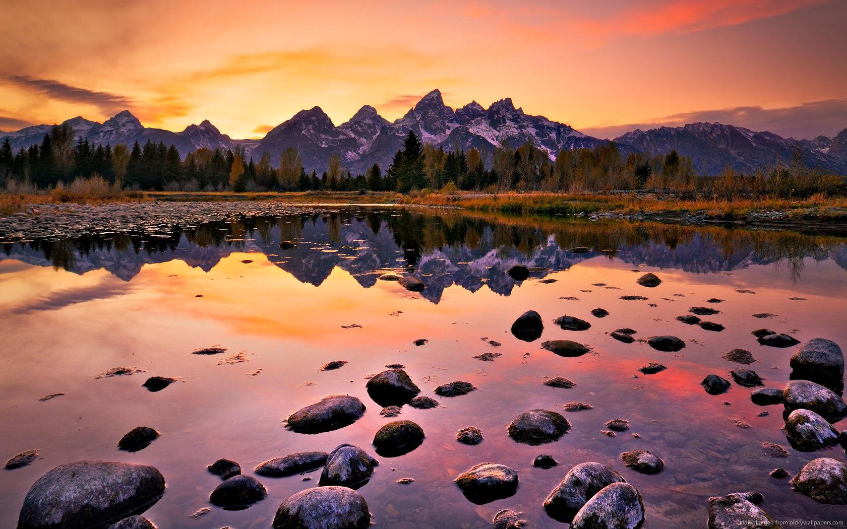 ... Grand Teton Sunset for 1680x1050
