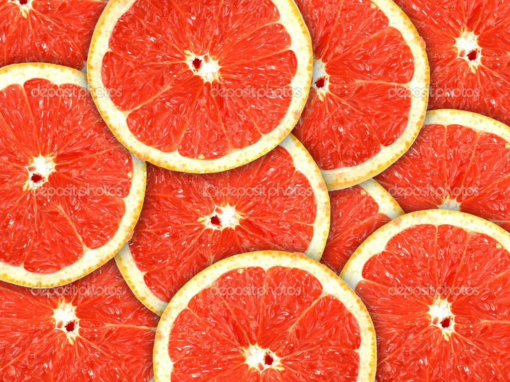Abstract red background with citrus-fruit of grapefruit slices. Close-up. Studio photography. — Photo by boroda