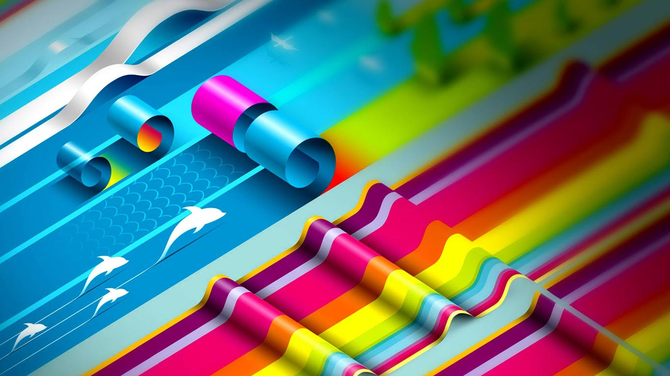 Graphic Designing 3D-Awesome-Rainbow-Graphic-designs-wallpaper