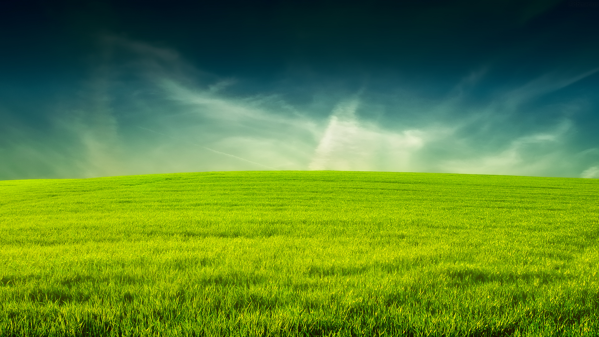 Amusing Grass Wallpaper Sky Space Images 1920x1080px
