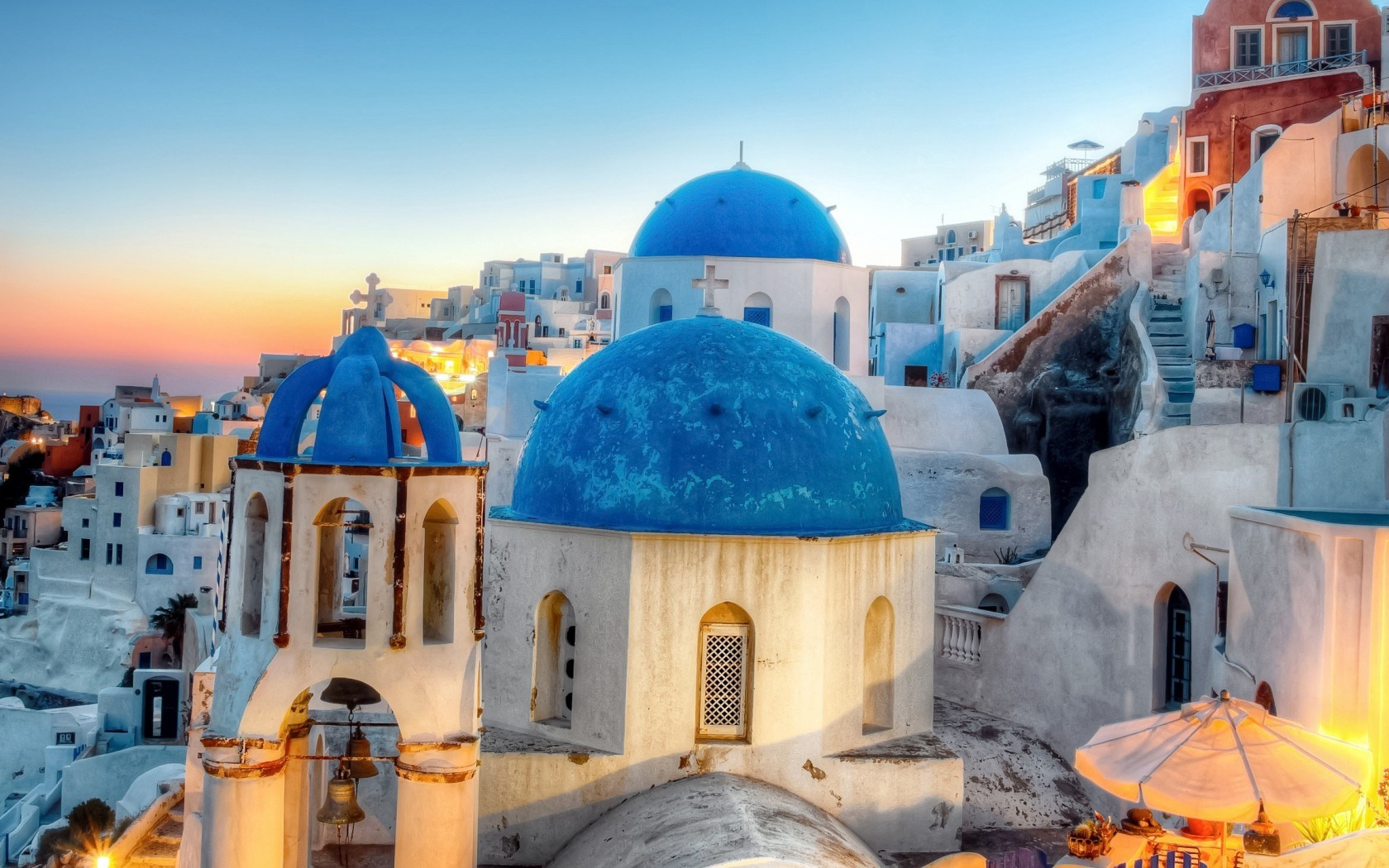 Greece Oia Santorini City