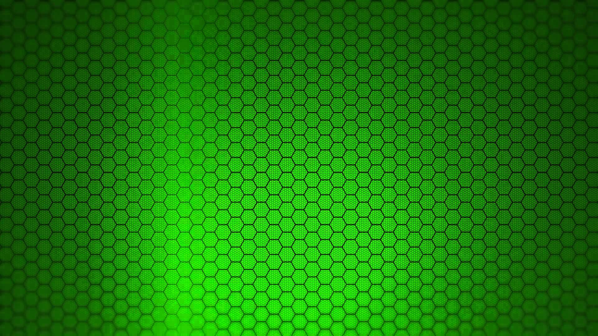 Hexagon Background - Green Screen Animation