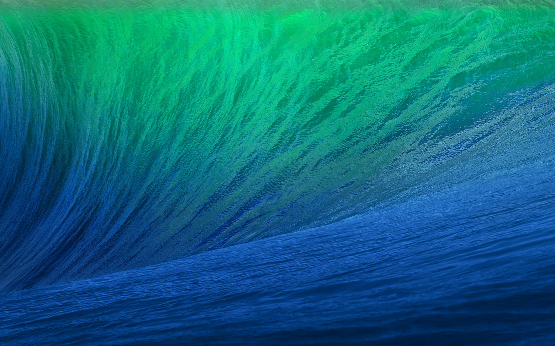 Green blue ocean wave