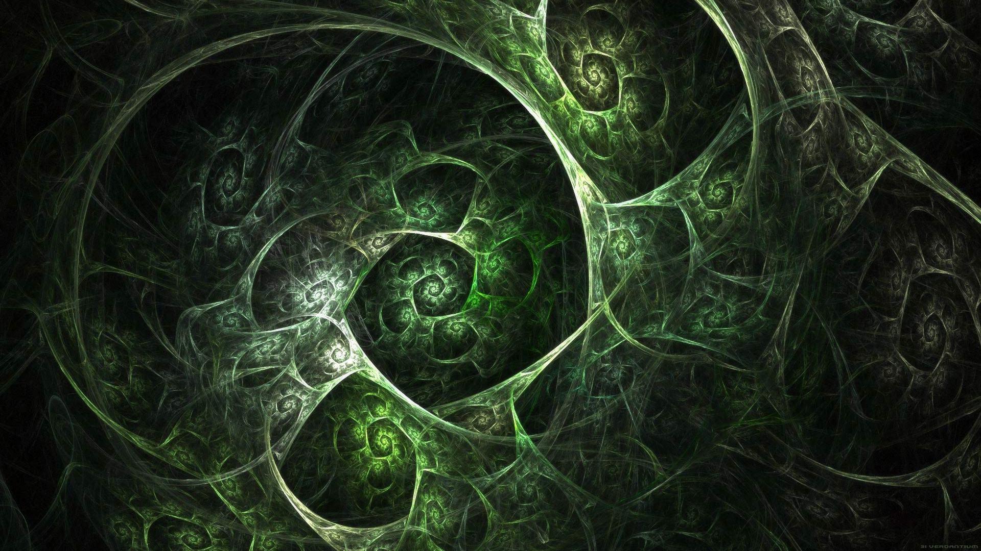 Green Fractal Wallpaper Hd Wallpapers Xpx