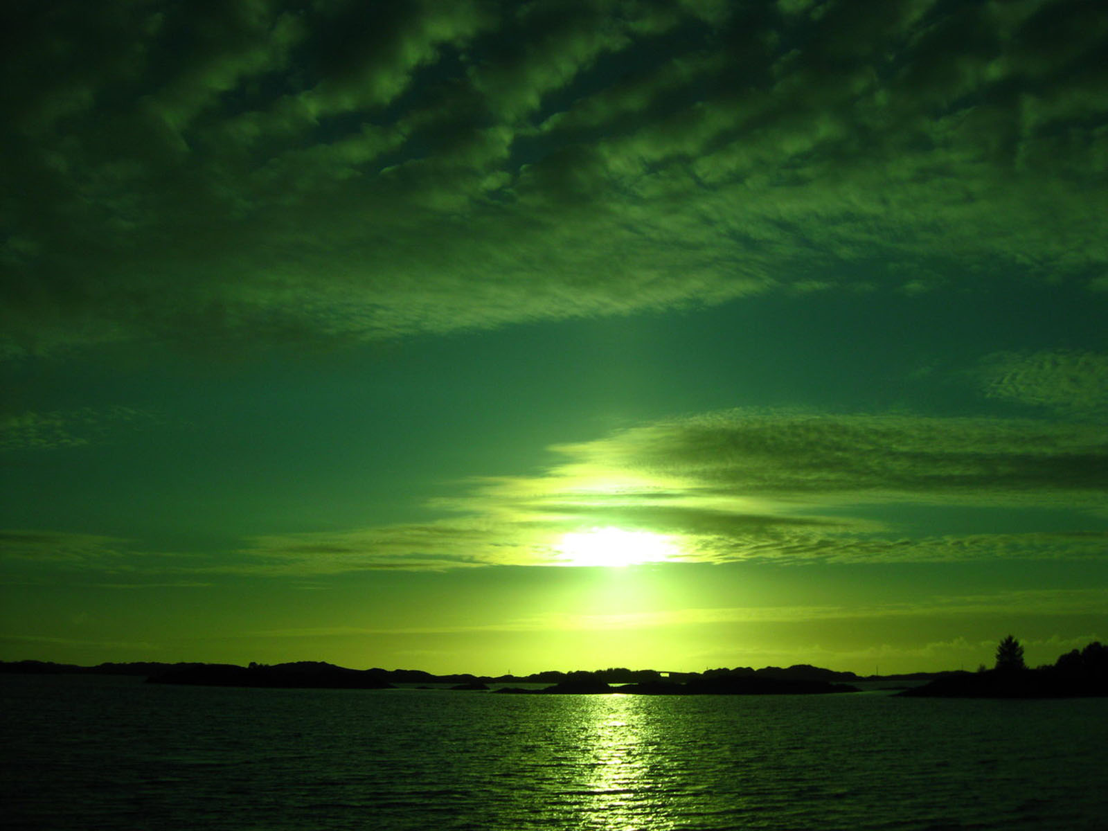 Green Sunset