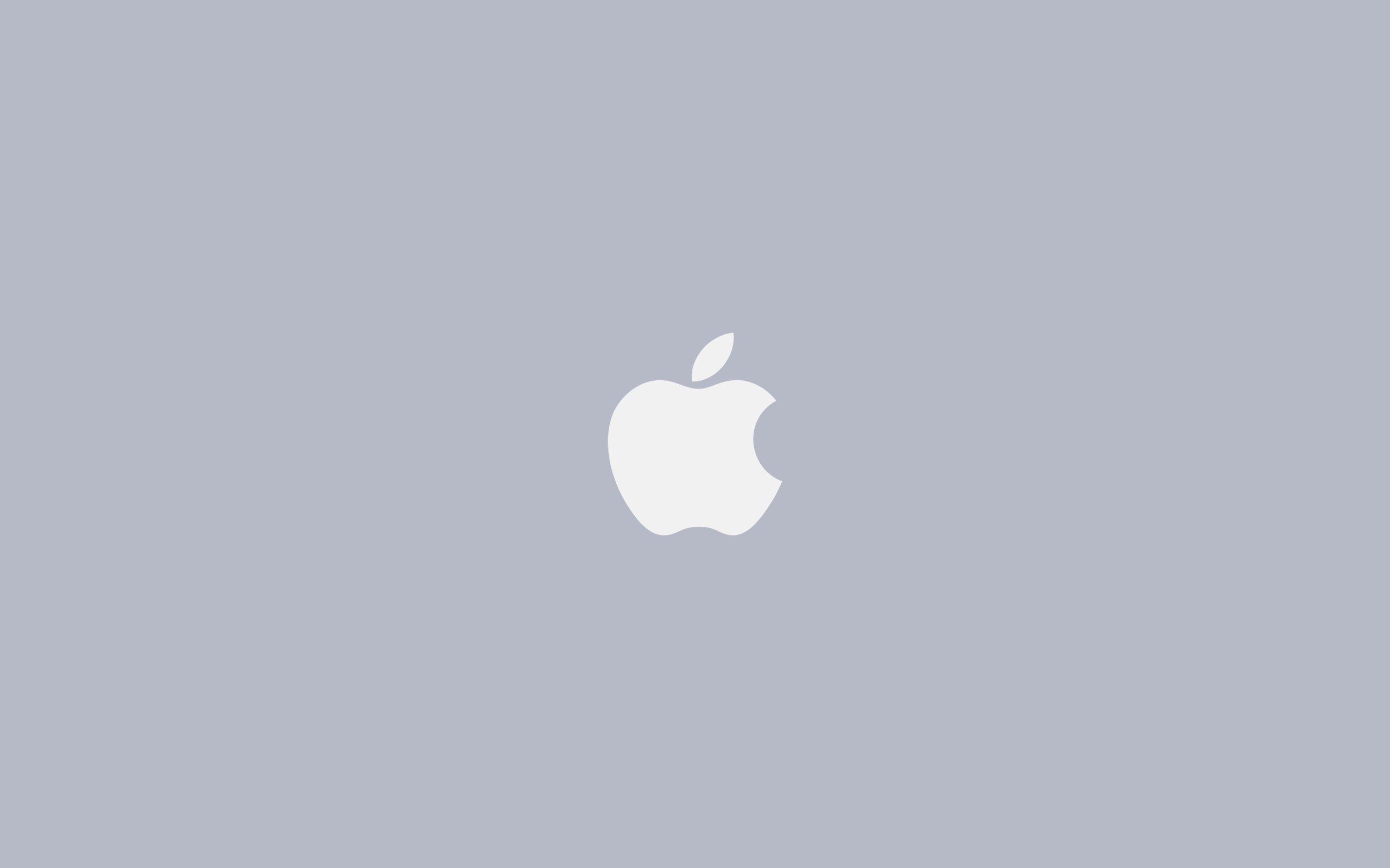 Apple Logo Grey - Minimal Desktop Wallpaper