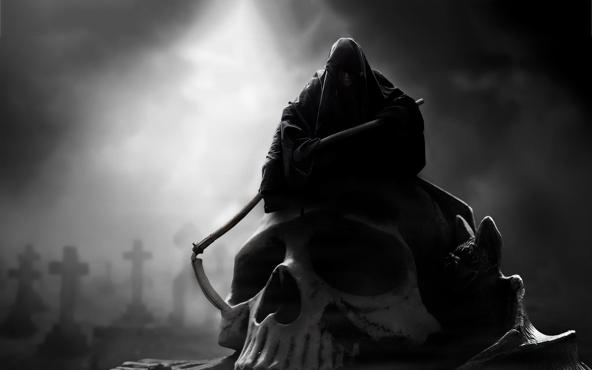 Skull grim reaper