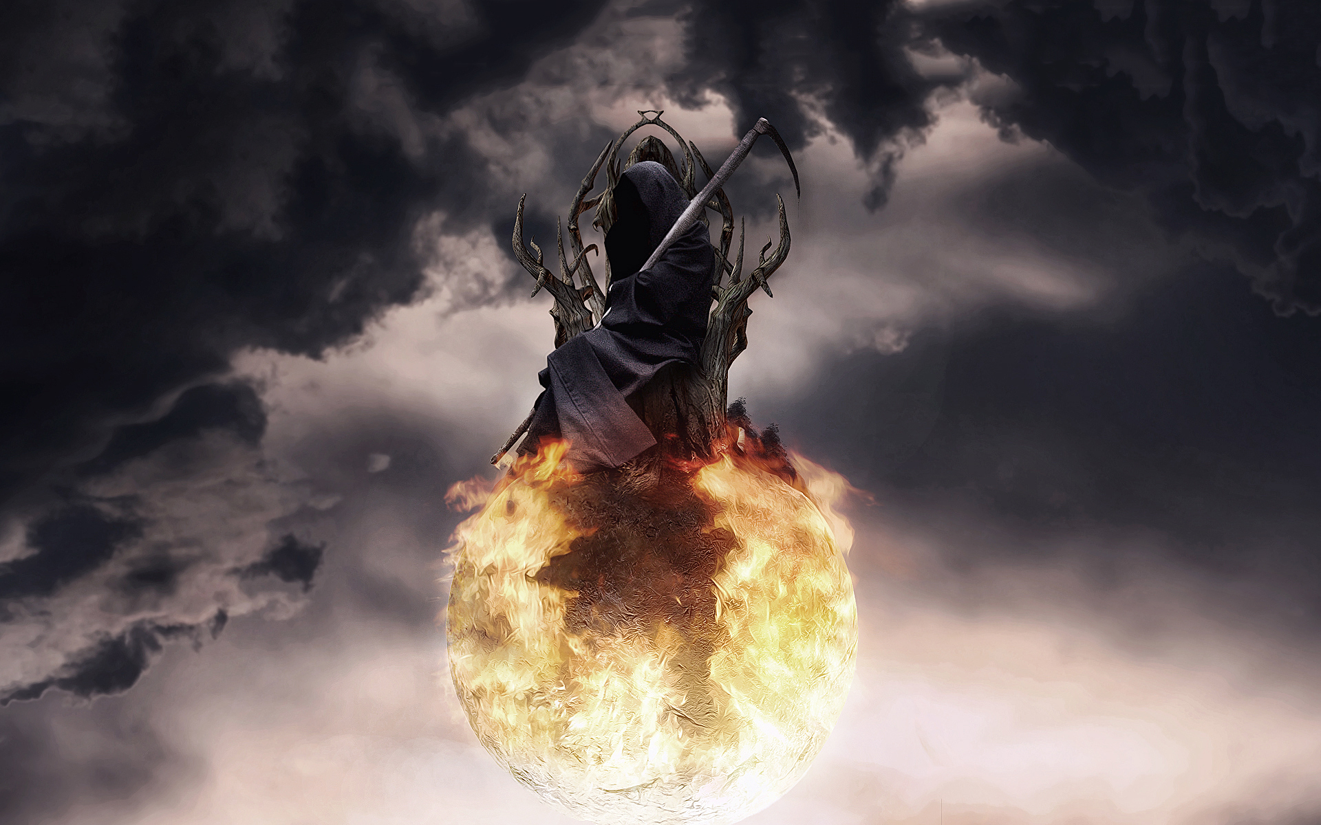Grim reaper fire ball