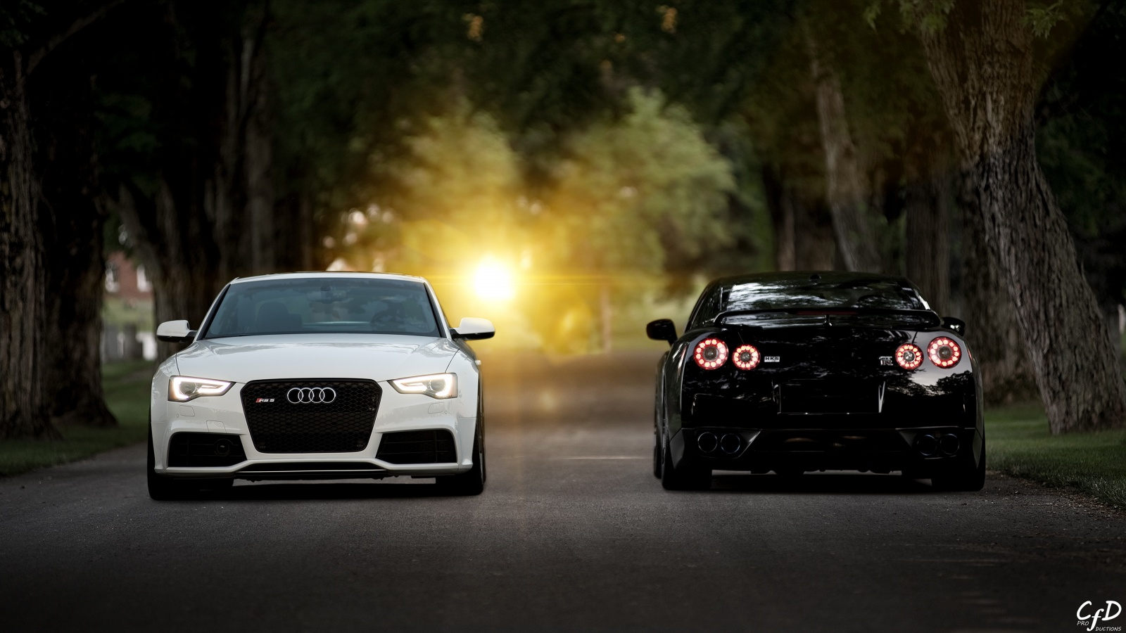 Audi rs5 nissan gtr 35 Wallpaper in 1600x900 HD Resolutions