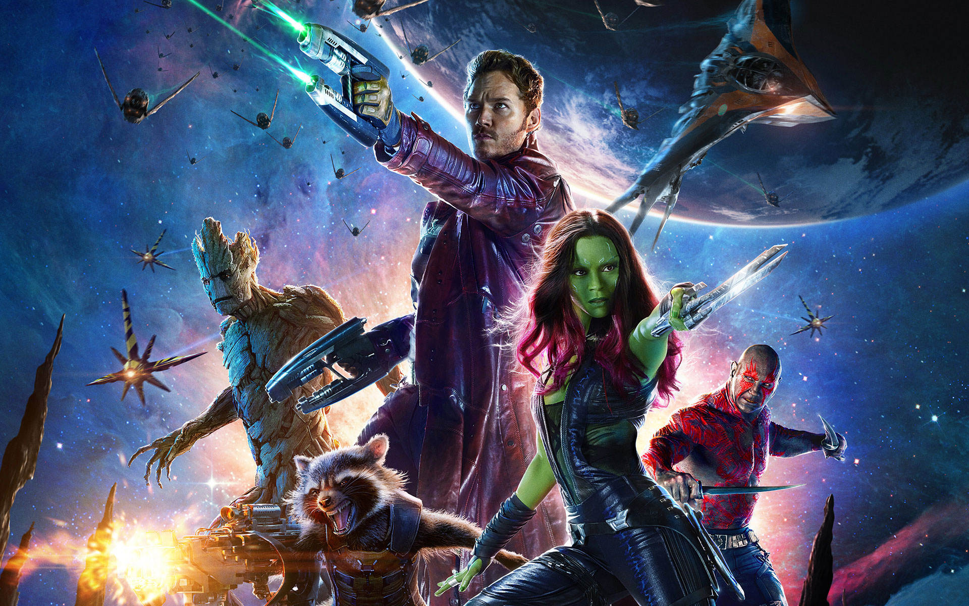 Guardians of the Galaxy Team wallpaper HD 1920×1200