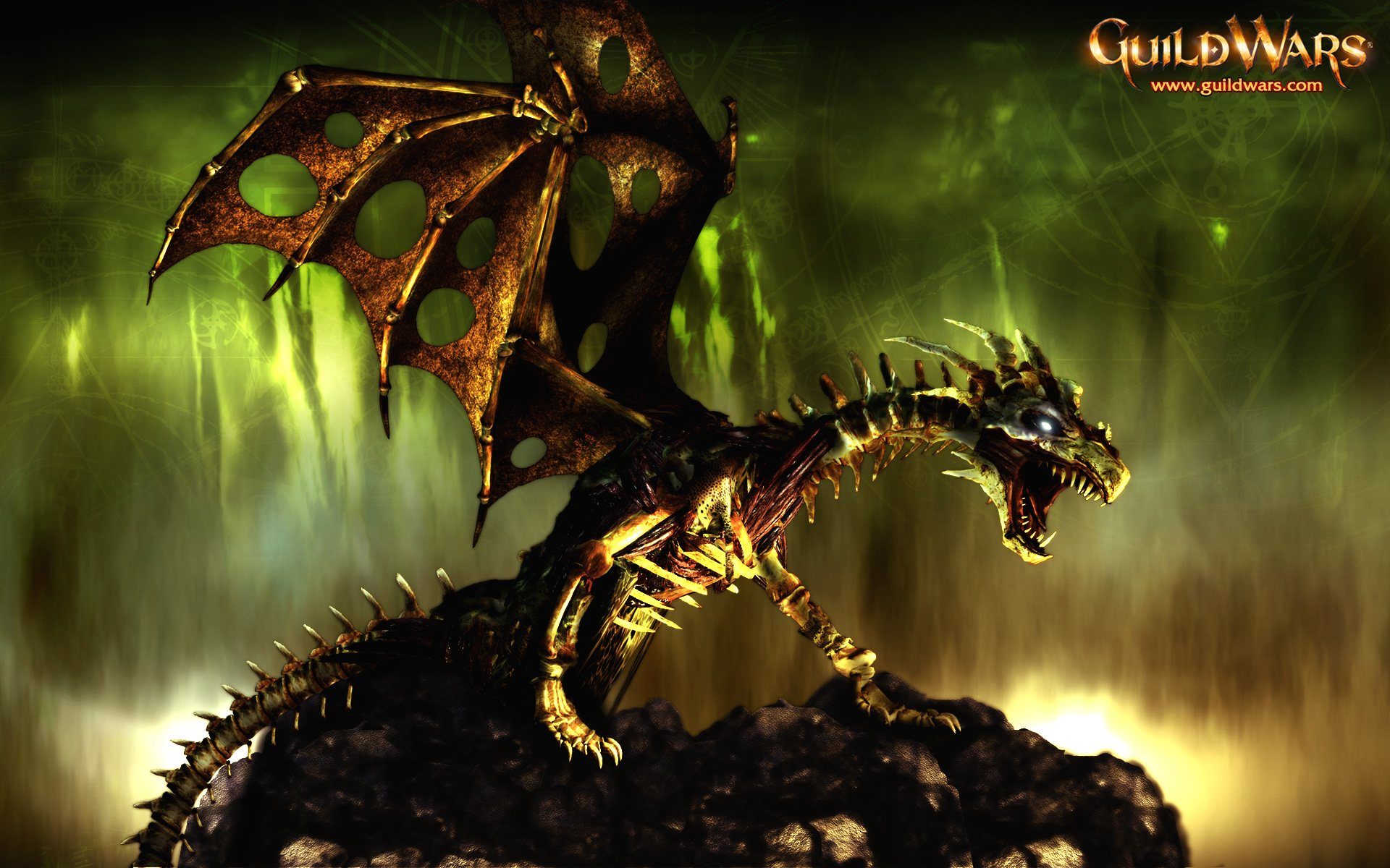Bone Dragon Guild Wars Wallpaper 1920x1200px