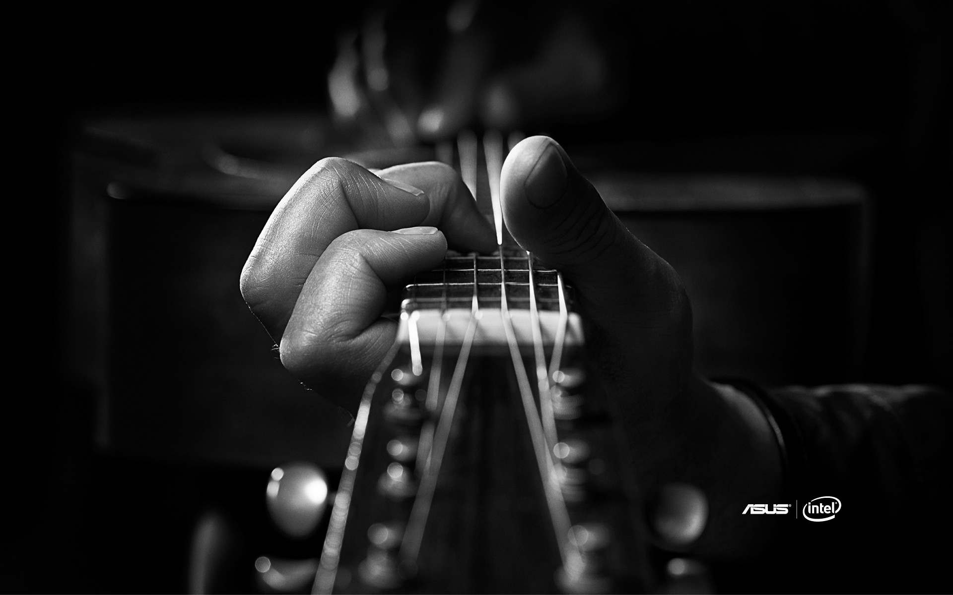 1920x1200 Wallpaper hands, fingers, strings, guitar, brands