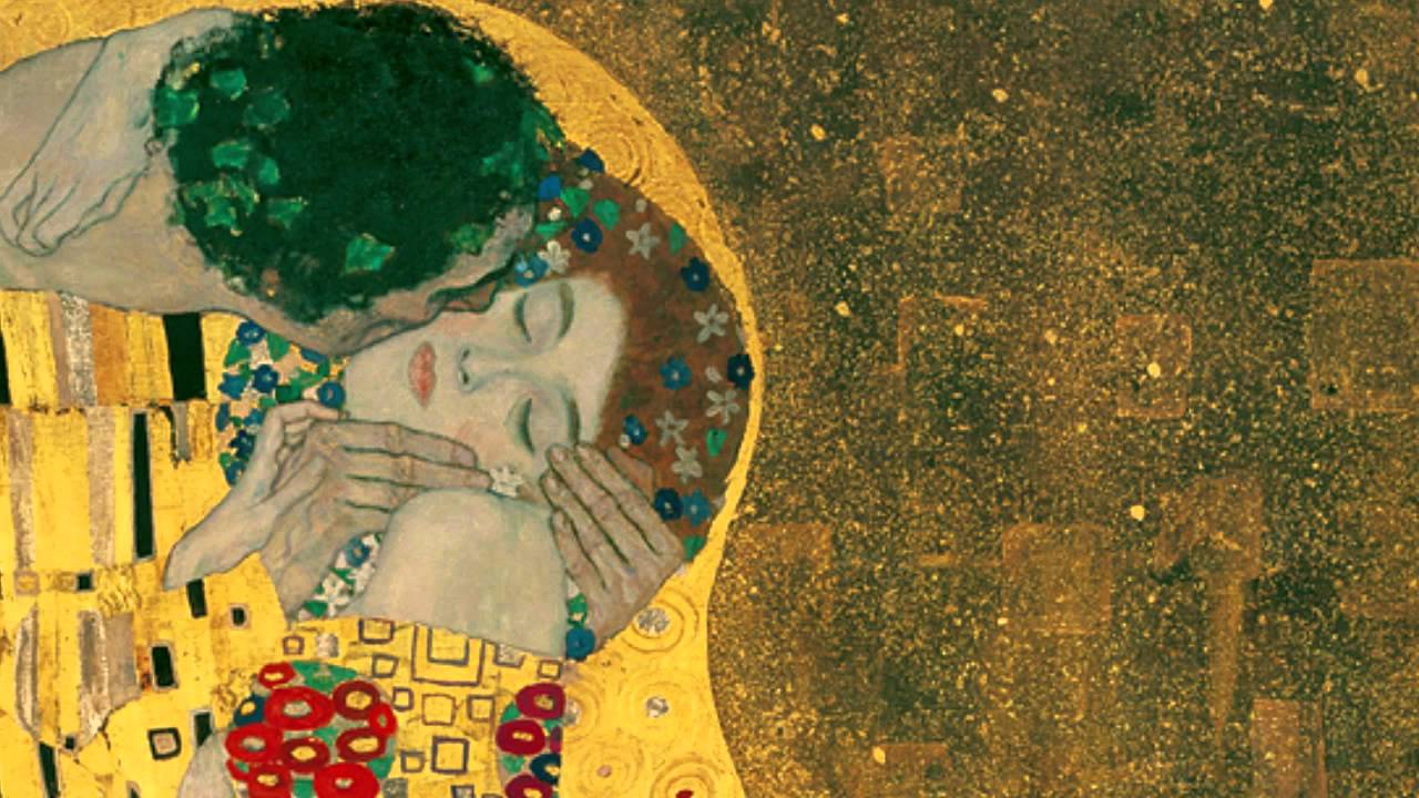 Gustav Klimt, The Kiss, 1907-8