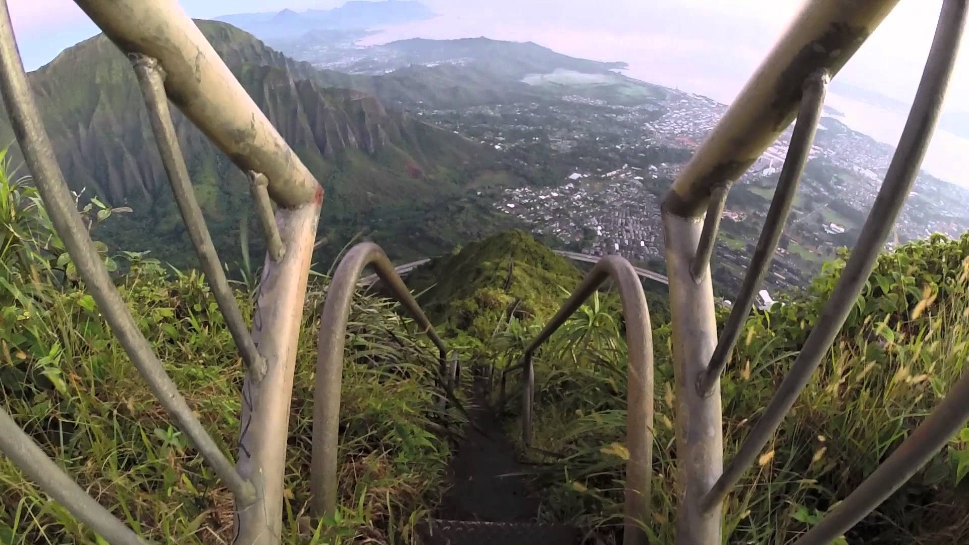 Stairway to Heaven (Haiku Stairs)- GO PRO HERO 3 (Silver Edition) HD