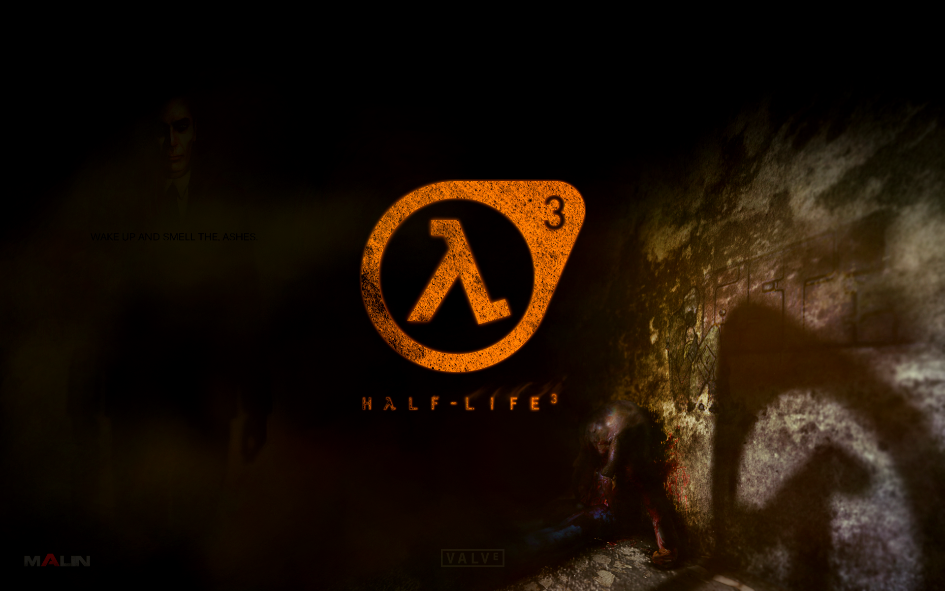 ... Half-Life 3 Logo with The G-Man 16:10 wallpaper by brett1990