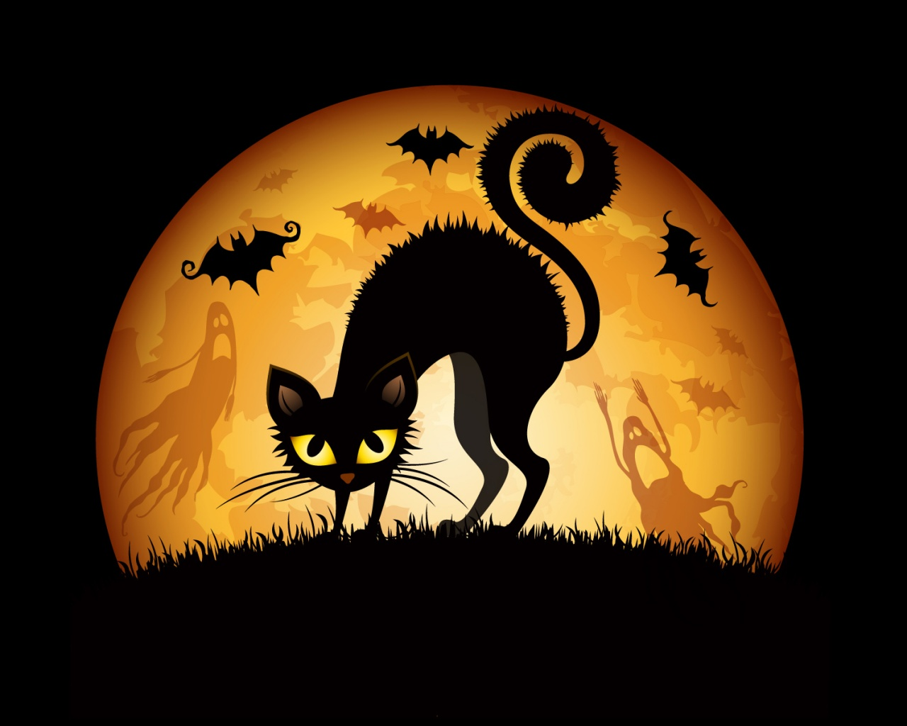 Description: The Wallpaper above is Halloween Cat Art Wallpaper in Resolution 1280x1024. Choose your Resolution and Download Halloween Cat Art Wallpaper