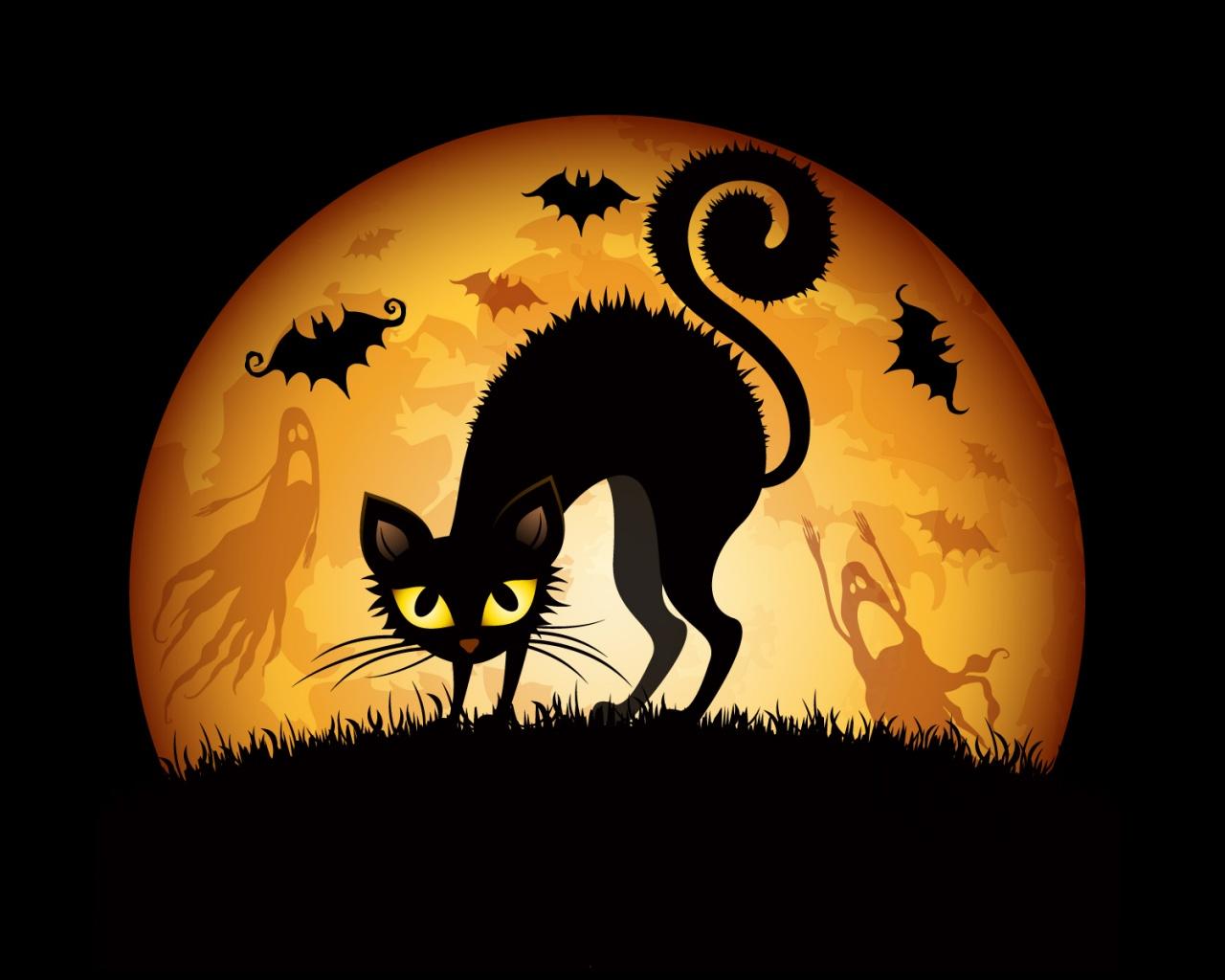 Halloween Cat Art