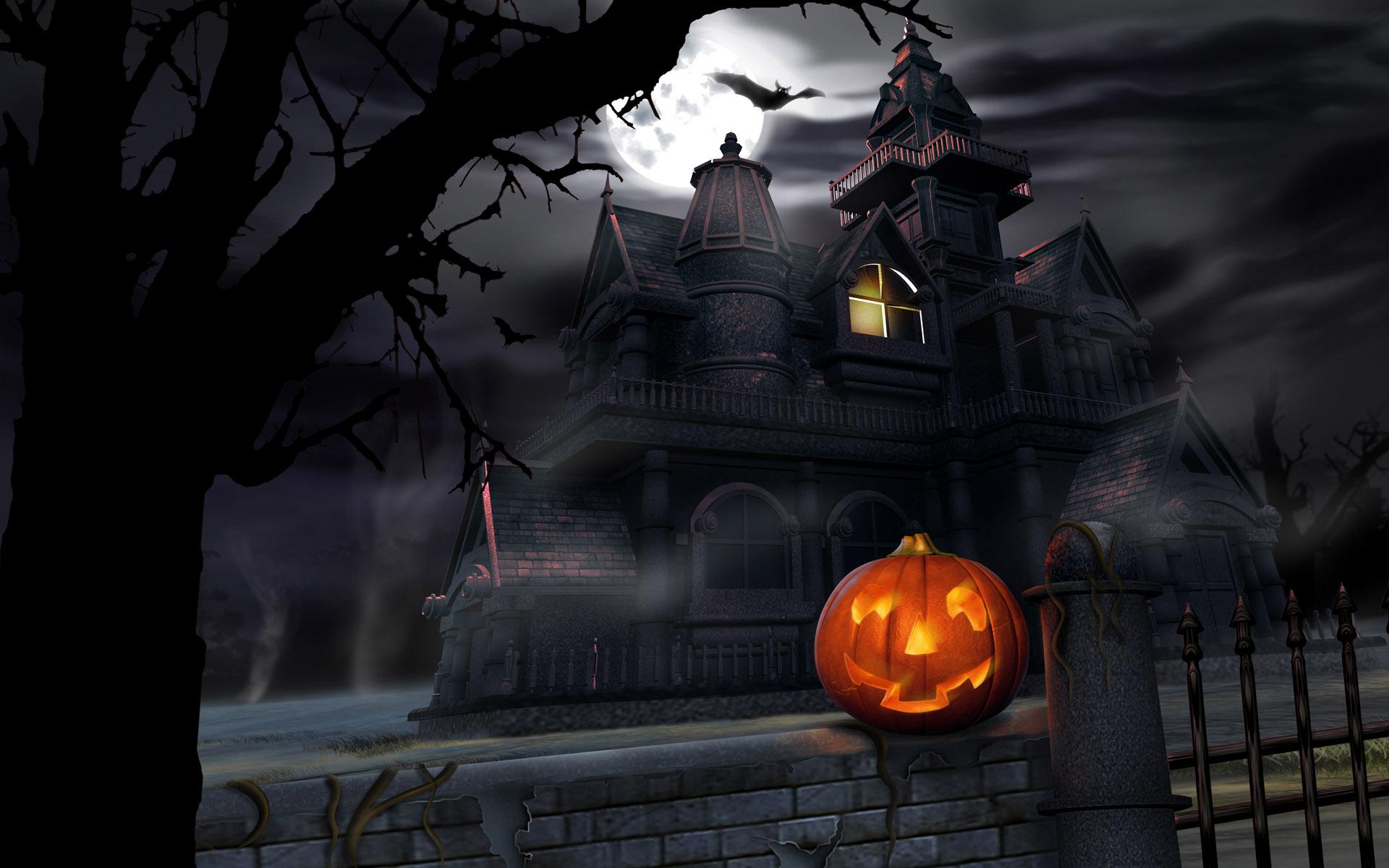 Scary Halloween 2012 Graveyard HD Wallpaper