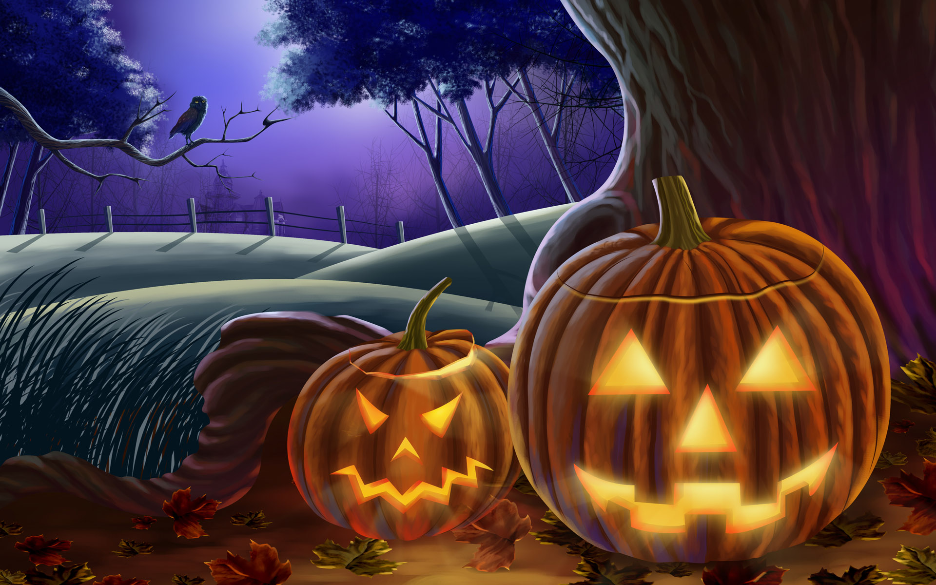 Halloween Res: 1920x1200 / Size:453kb. Views: 14553