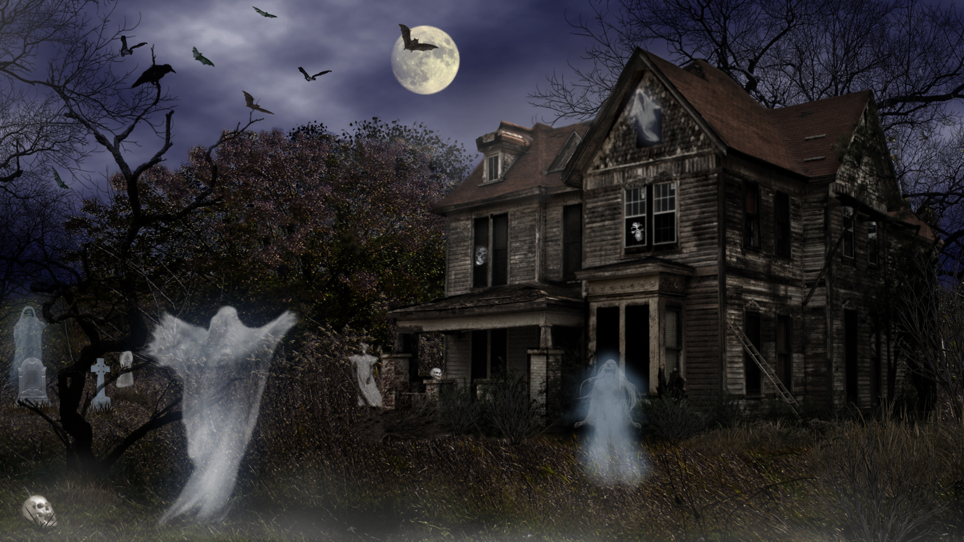 haunted house wallpaper with sound - photo #6