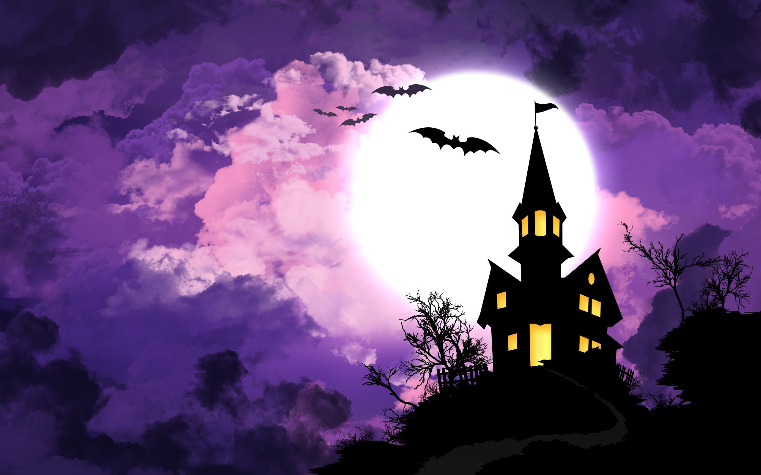 Halloween Spooky Wallpaper.Halloween Spooky House Wallpaper 2560x1600 26466