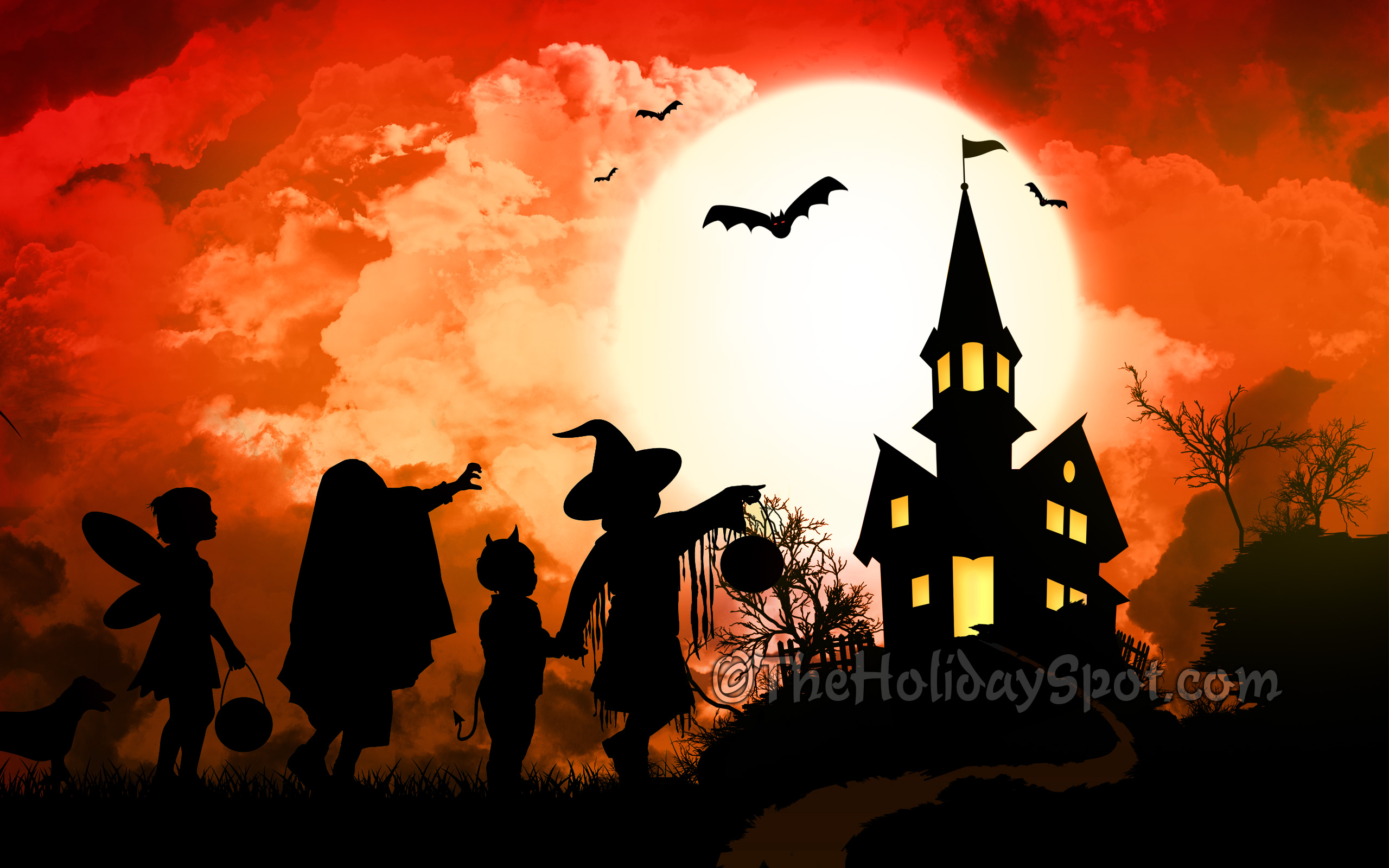 Give a scary treat to everyone by forwarding as well downloading this haunted wallpaper background. This wallpaper will surely serve your purpose of scaring ...