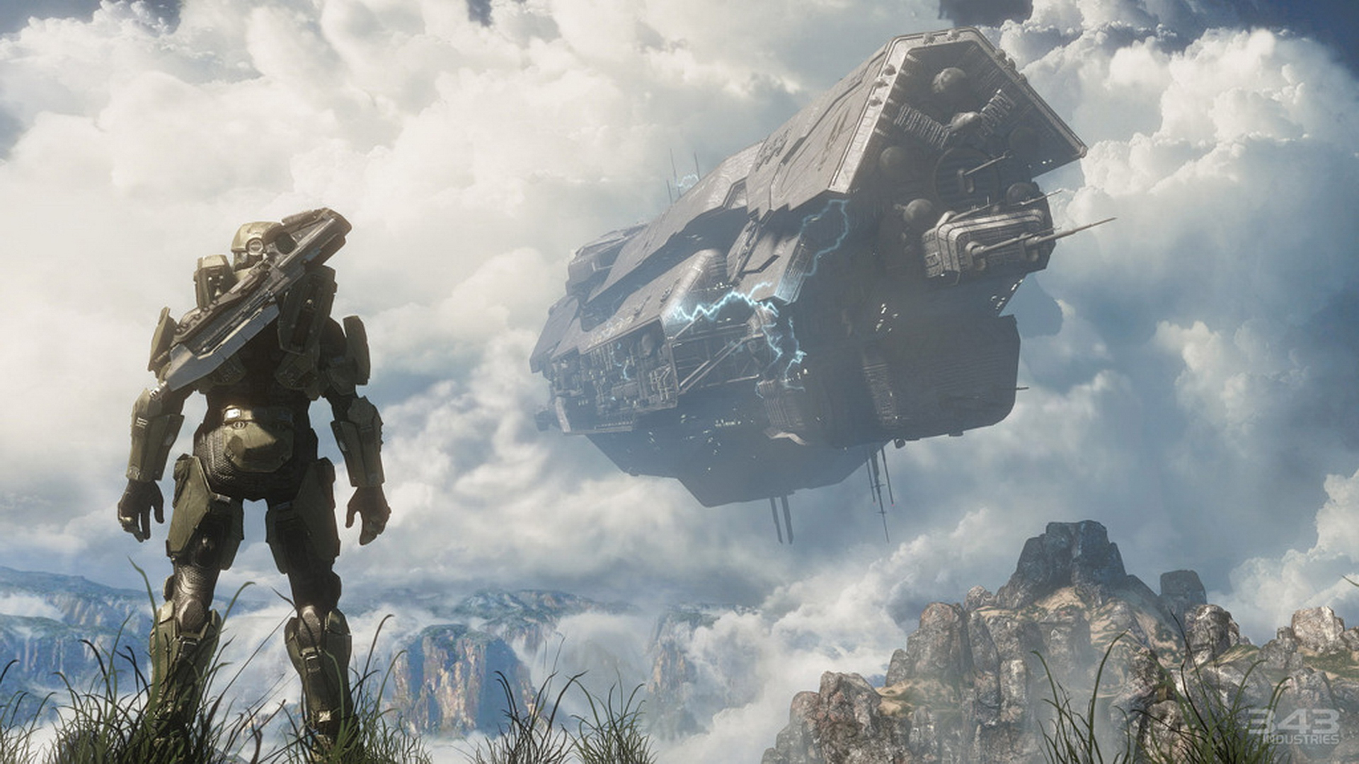 Halo 4 - Master Chief Spartan - UNSC ship crashing