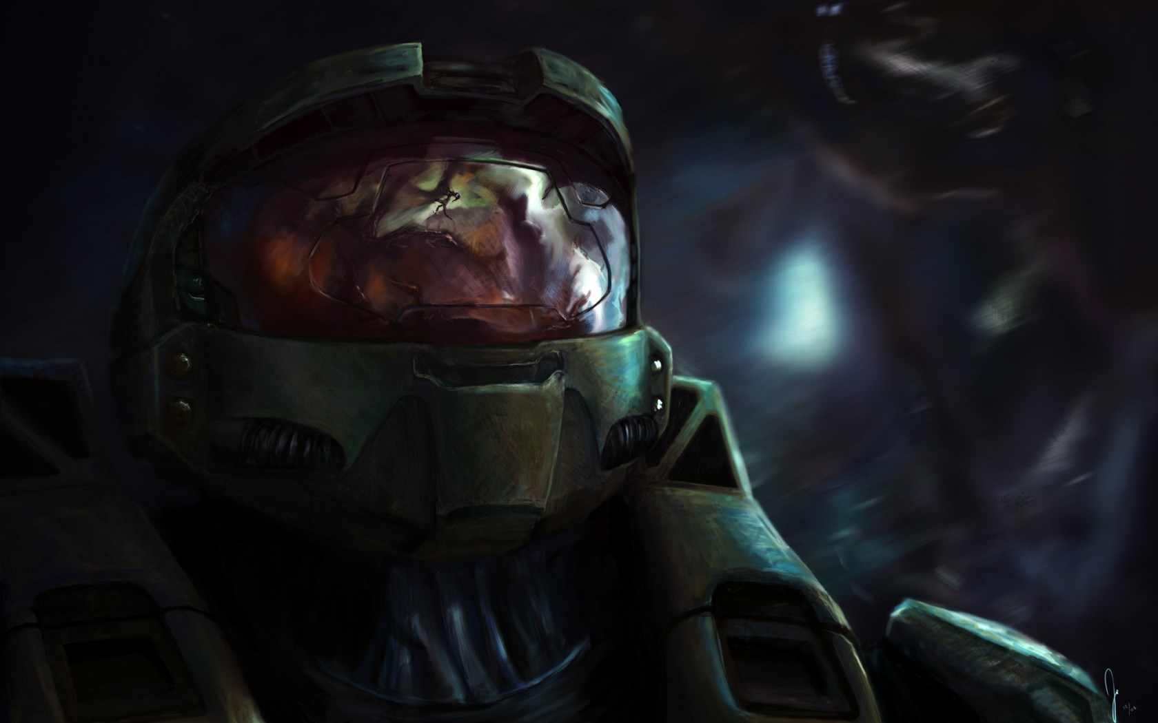 Halo Warrior Armor Helmet Art