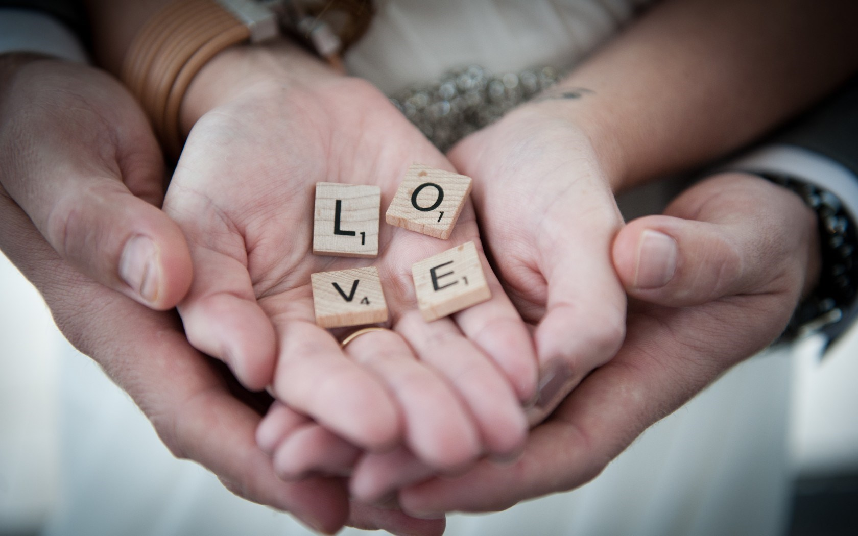 Hands Letters Love